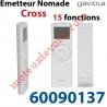 Emetteur Nomade Cross Gaviota Blanc 15 Canaux Ecran à Cristaux Liquides Fréquence: 433,90 MHz