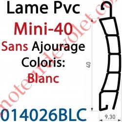 Lame Pvc Double Paroi Mini-40 de 40 x 9,3 Coloris Blanc Sans Ajourage