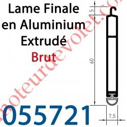 Lame Finale Aluminium Brut 60 x 8 mm
