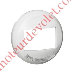 Enjoliveur Blanc pour EcoDétecteur Avec 3 Boutons Legrand Céliane