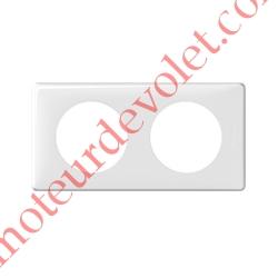 Plaque Blanche pour Mécanisme Legrand Céliane (2 Postes Verticaux)