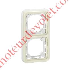 Plaque Blanche pour Mécanisme Legrand Plexo (2 Postes Verticaux entraxe 71 mm)