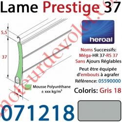 Lame Alu Double Paroi Injectée de Mousse de Polyuréthane Hr37 de 37x8 Coloris Gris 18 Sans Ajourage