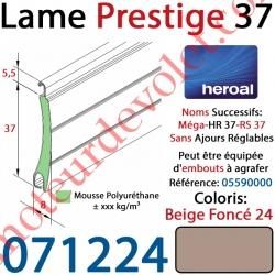 Lame Alu Double Paroi Injectée de Mousse de Polyuréthane Hr37 de 37x8 Coloris Beige Foncé 24 Sans Ajourage