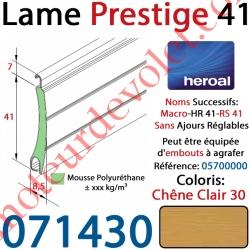 Lame Alu Double Paroi Injectée de Mousse Polyuréthane Hr41 de41x8,5 Coloris Chêne Clair Sans Ajourage