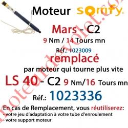 Moteur Mars C2 9/14 Sans Carré LS 40 sans Mds Double Isolation Classe II