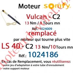 Moteur Vulcan C2 13/8 Sans Carré LS 40 sans Mds Double Isolation Classe II