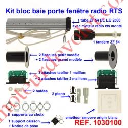 Kit de Modernisation Somfy Bloc Baie Porte-Fenêtre Radio Rts