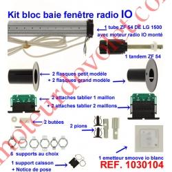 Kit de Modernisation Somfy Bloc Baie Fenêtre Radio io