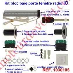 Kit de Modernisation Somfy Bloc Baie Porte-Fenêtre Radio io