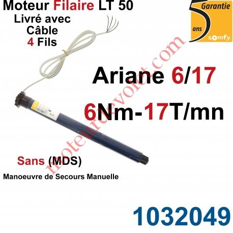 Moteur Somfy Ariane 6/17 LT 50