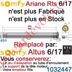 Moteur Ariane 6/17 Rts ou Rts2 LT 50 sans Mds (remplacé par Altus 1032447)