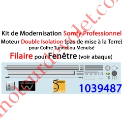 Kit de Modernisation Somfy Double Isolation Fenêtre Filaire