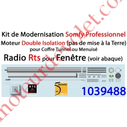 Kit de Modernisation Somfy Double Isolation Fenêtre Radio Rts
