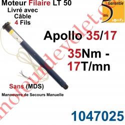 Moteur Somfy Apollo 35/17 LT 50