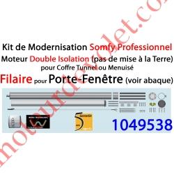 Kit de Modernisation Somfy Double Isolation Porte-Fenêtre Filaire