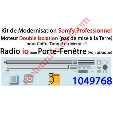 Somfy 1049768 Kit De Modernisation Somfy Double Isolation Porte Fen Tre Radio Io
