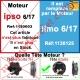 Moteur Somfy Ipso 6/17 LT 50