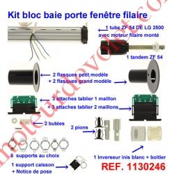 Kit de Modernisation Somfy Bloc Baie Largeur Maxi 2500mm Filaire