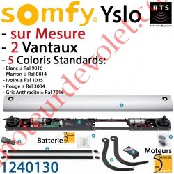 Yslo sur Mesure Rts Volet 2 Vantaux Coloris Standard (2 Moteurs avec Carte Electronique Intégrée, 2 bras inox, 1 émetteur Smoov