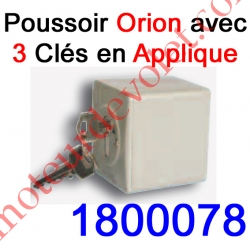 "Poussoir à clés en Zamac 1 Impulsion ""Inviolable"" en Applique Orion 10 A ip 54"