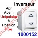 Inverseur Apr - Apem (Mécanisme seul) Unipolaire à Position Fixe Coloris Blanc