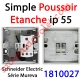 Poussoir Etanche Schneider Electric série Mureva en Saillie ip 55