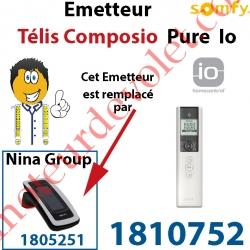 Emetteur Télis Composio Pure io (pour commander 40 groupes de produits)