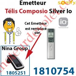 Emetteur Télis Composio Silver io (pour commander 40 groupes de produits)