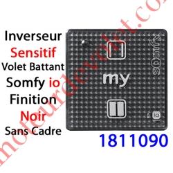 Emetteur Mural pour Volet Battant Smoove Sensitif 1 io Noir Sans Cadre