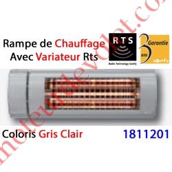 Rampe de Chauffage Orientable à Variateur Intégré Rts Coloris Gris Clair ± Ral