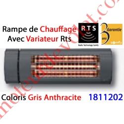 Rampe de Chauffage Orientable à Variateur Intégré Rts Coloris Gris Anthracite ± Ral