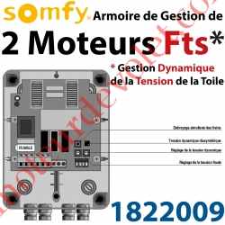 Armoire pour Commander 2 moteurs Somfy Fts Hi Pro 230 vca Gestion Dynamique de la Tension de la Toile