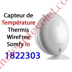 Capteur de Température Thermis WireFree io Blanc Auton av 2 pil 1,5 v AA