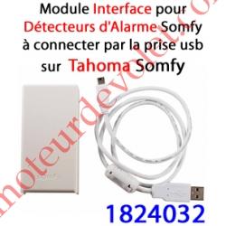 Module Détecteurs Alarme Somfy à Connecter au port Usb du Boîtier Tahoma