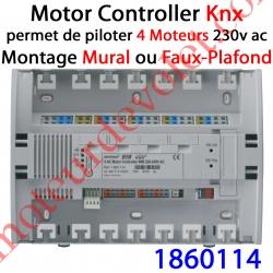 Motor Controller 4AC Bus EIB Knx & IB+ 230 VAC Modèle WM (Montage en Faux-Plafond)