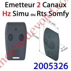 Emetteur Nomade Tsa Hz 2 Canaux Rts Coloris Noir