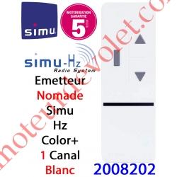 Emetteur Nomade Color+ 1 Aspect 2013 Simu Hz-Rts Blanc (1 canal)