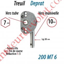 Treuil à Vis 1/3 Sans Fdc Hexa 7 Sortie Ronde Diamètre 10 mm Longueur 20 mm