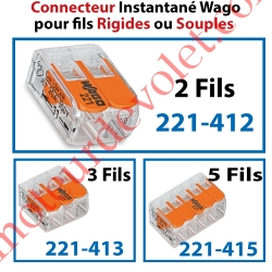 Borne Mini Connexion à Leviers 2 Fils Souples ou Rigides jusqu'à 4 mm² Intensité Max 32A Tension 450v
