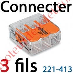 Borne Mini Connexion à Leviers 3 Fils Souples ou Rigides jusqu'à 4 mm² Intensité Max 32A Tension 450v