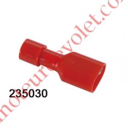 Cosse Rouge Femelle Isolée pour Languette 6,35 mm