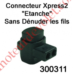 Connecteur Xpress 2 Conducteurs Section 0,5à 2,5 mm² suiv Fil Intensité Maxi 30A
