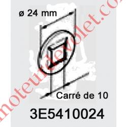 Rondelle de Blocage en Acier C70 ø Ext 24 mm Int Carré de 10 mm