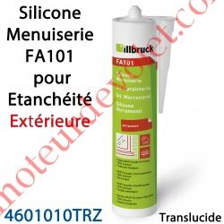 Silicone Menuiserie FA101 pour Etanchéité Extérieure Coloris Translucide en Cartouche de 310 ml