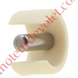 Clips de Blocage en Plast Beige Avec Goupille Cylindrique Inox pr Tube ø Ext 12 ou 13 mm