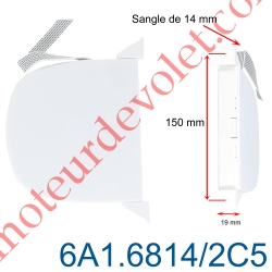 Enrouleur Pivotant de Sangle Swing Blanc Largeur 14 mm Longueur 5 m