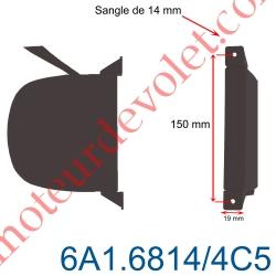 Enrouleur Pivotant de Sangle Swing Marron Largeur 14 mm Longueur 5 m