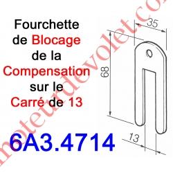 Fourchette de Blocage sur l'Embout du Ressort de Compensation Monté sur Carré de 13