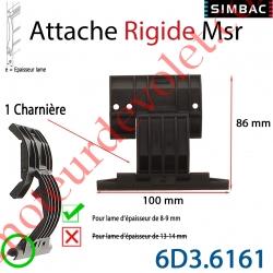 Attache Rigide Msr d'1 Charnière pour Lame 8-9 mm d'épaisseur